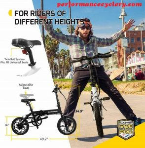 SwagCycle EB-5 Pro Lightweight and Aluminum Folding EBike with Pedals