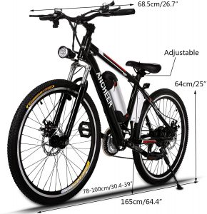 ANCHEER Electric Bike Adult Electric Mountain Bike 5 290x300 - 🥇BEST ELECTRIC BIKES UNDER $1000 - Black Friday 2020