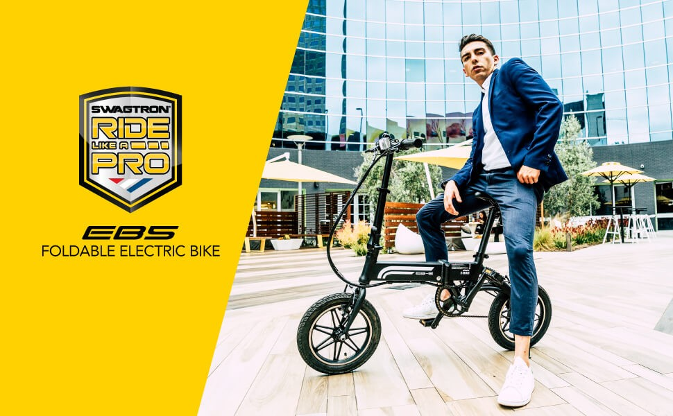 SWAGTRON Swagcycle EB5 Folding Ebike 6 - 🥇BEST ELECTRIC BIKES UNDER $1000 - Black Friday 2020