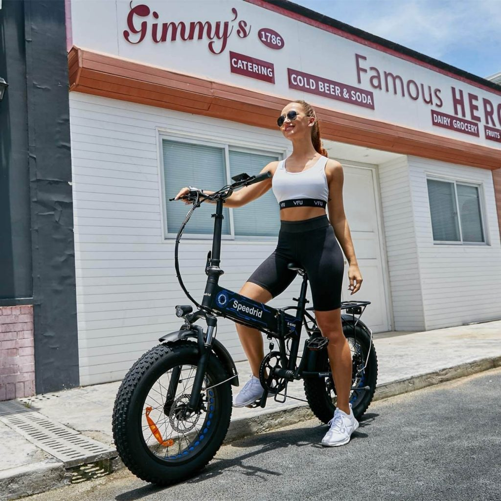 Speedrid Folding Electric Bike Fat Tire Electric Snow Bike 20 inches 1