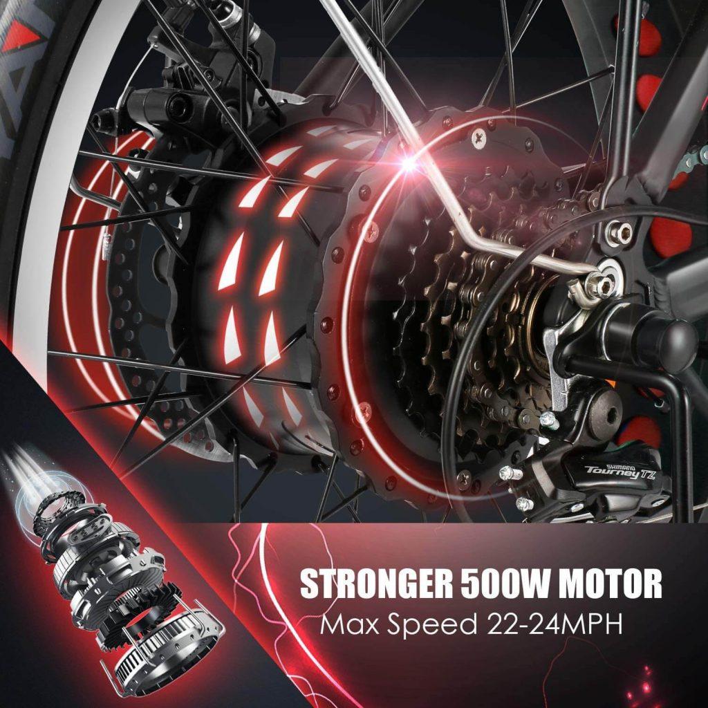 Speedrid Folding Electric Bike Fat Tire Electric Snow Bike 20 inches 3