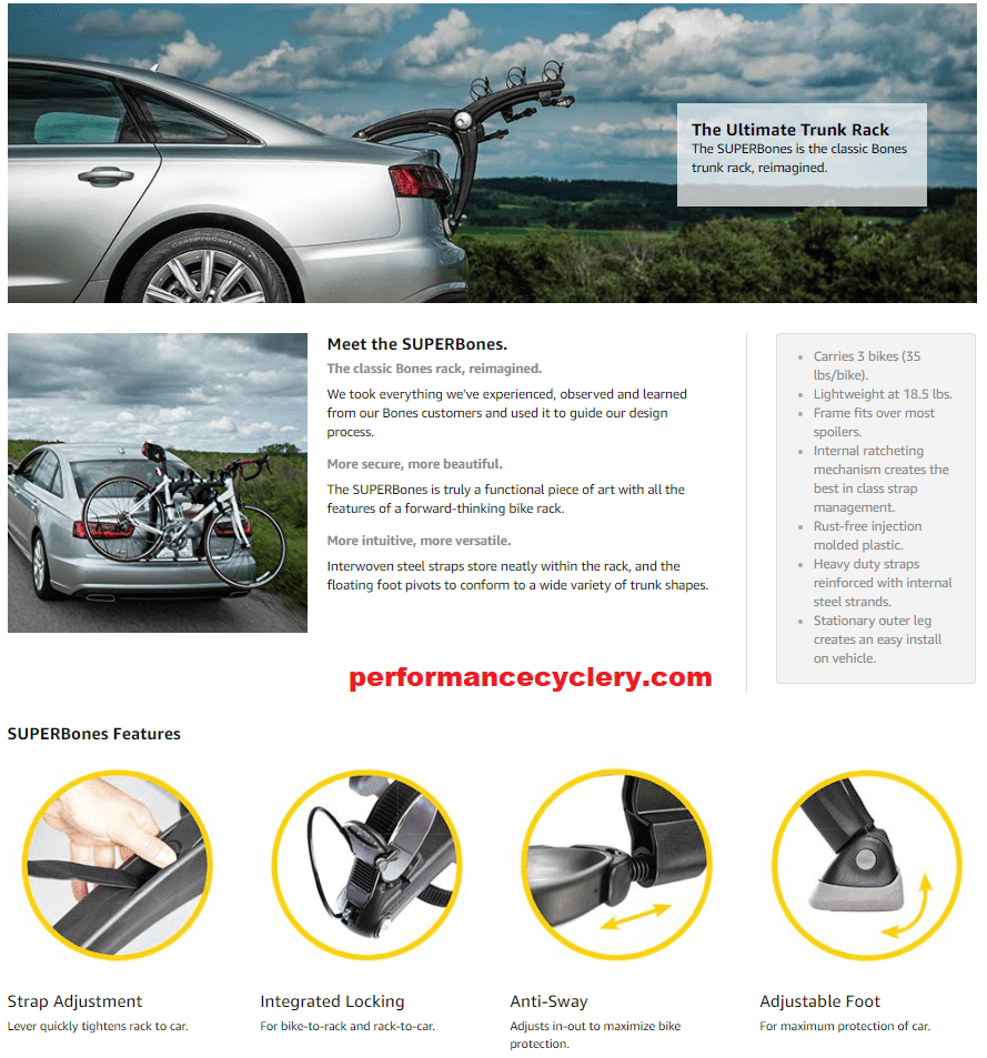 Trunk Mounted Bike Rack by Performance Cyclery