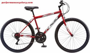 Pacific Men's Stratus Mountain Bike, Red, 26-Inch