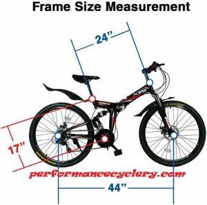 61fDxEyoDL. AC SL1000  300x297 - Best Xspec Folding Bike for Off-Road Cycling