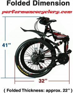 Xspec Folding Mountain Bike