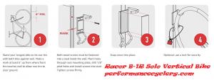 Racor B 1R Solo Vertical Bike 300x113 - Wall Mount Bike Rack Reviews