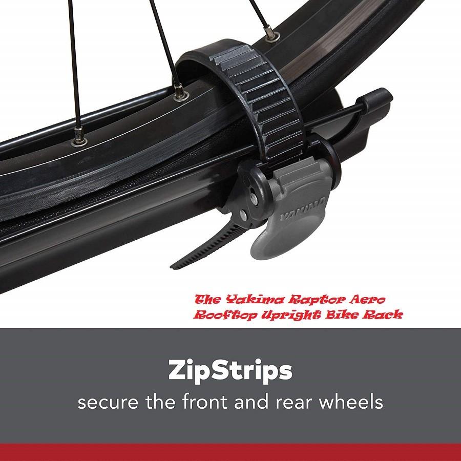 The Yakima Raptor Aero Rooftop Upright Bike Rack