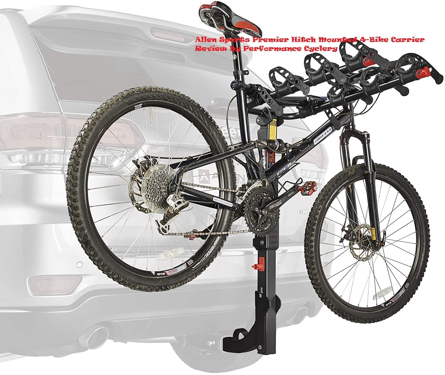 Allen Sports Premier Hitch Mounted 4-Bike Carrier Review by Performance Cyclery Shop