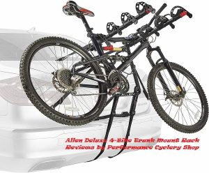 Allen Deluxe 4-Bike Trunk Mount Rack Reviews By Performance Cyclery Shop
