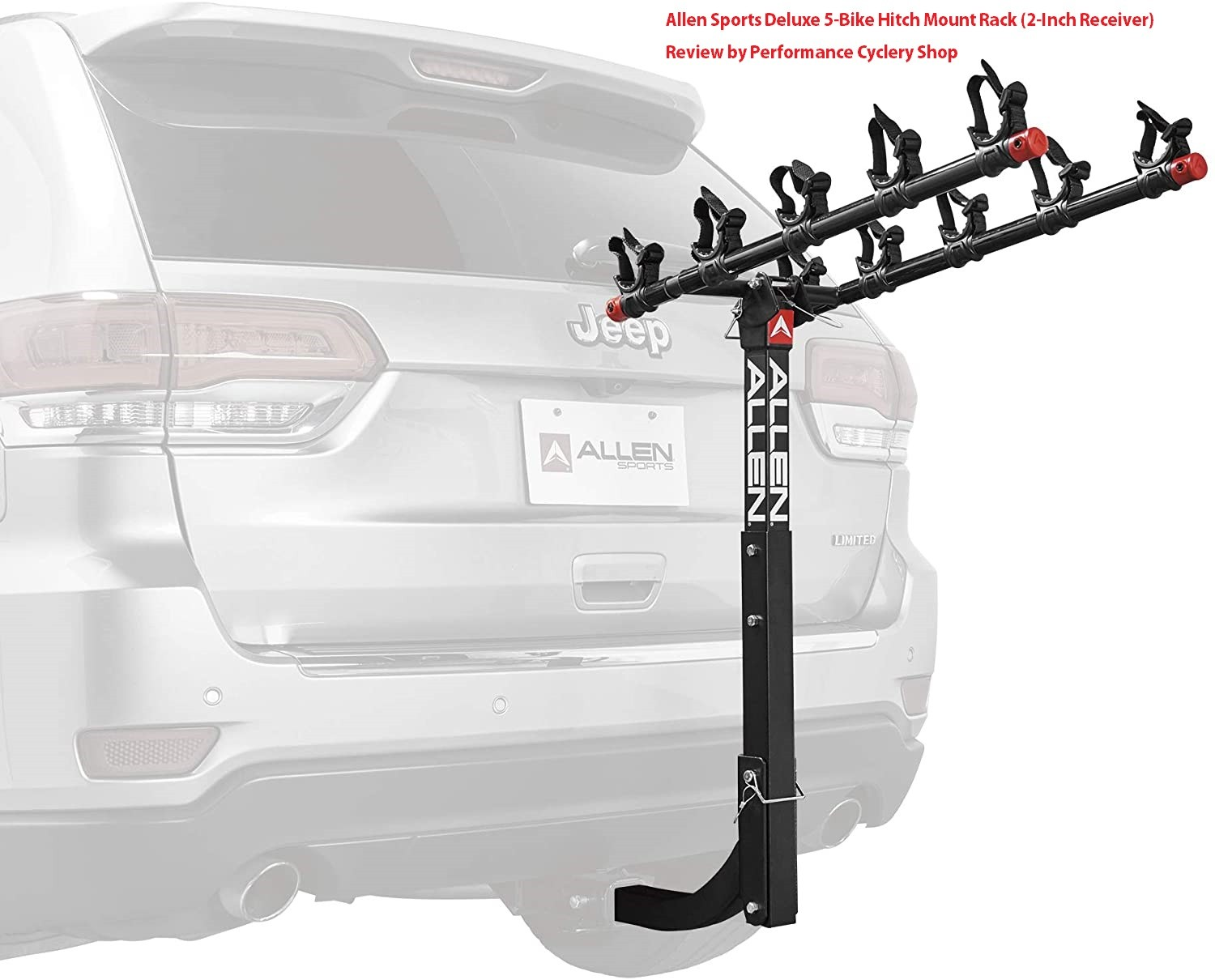 Allen Sports Deluxe 5 Bike Hitch Mount Rack 2 Inch Receiver Review by Performance Cyclery Shop - Allen Sports Deluxe 5-Bike Hitch Mount Rack (2-Inch Receiver) Review 2020