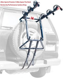 Allen Sports Premier 3 Bike Spare Tire Rack Review by Performance Cyclery Shop 241x300 - Best Hitch Bike Rack For Jeep Wrangler