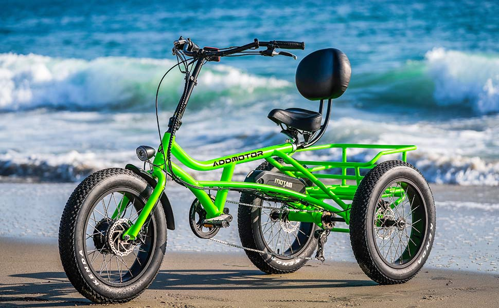 Electric Recumbent Tricycle Addmotor Motan Electric Tricycle Beach Snow Bicycle Three Wheel 750W 48V Trike Semi Recumbent E Bike 3 - Electric Recumbent Trikes