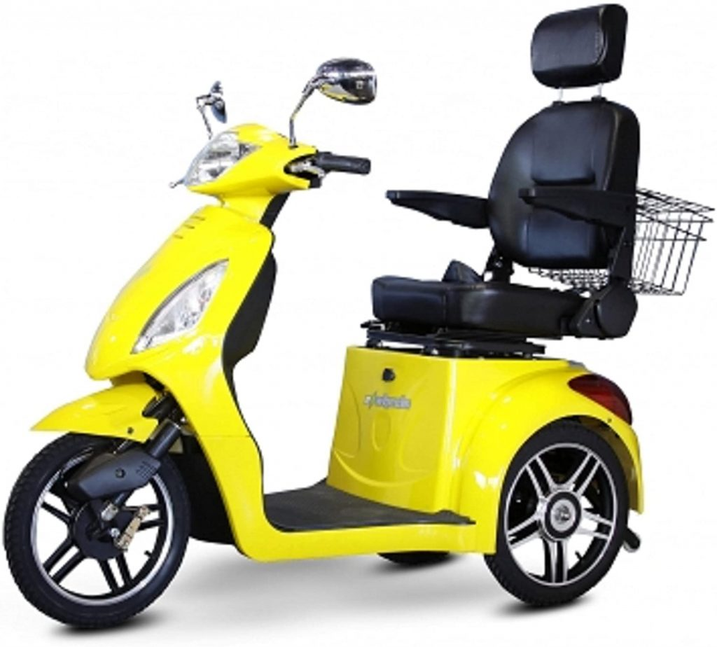 Electric Trike 3 Wheel Scooter in Yellow 1 1024x924 - Electric Tricycle Buyers' Guide