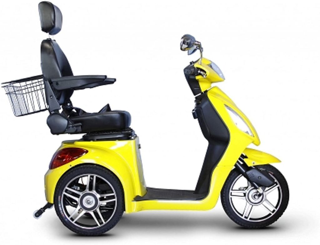Electric Trike 3 Wheel Scooter in Yellow 4 1024x785 - Electric Tricycle Buyers' Guide