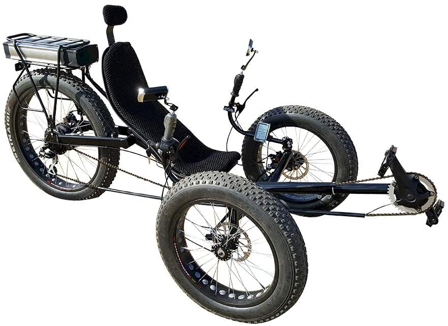 Fat Tire Electric Recumbent Tricycle Recumbent Trike - Electric Recumbent Trikes