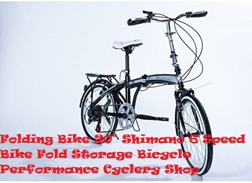 Shimano Folding Bike – 20″ Folding Bicycle Shimano 6 Speed Bike Fold Storage Silver