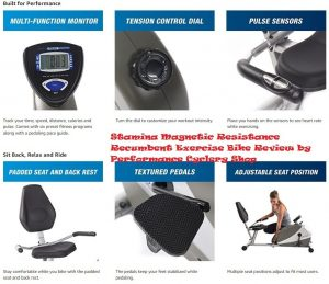 Stamina Magnetic Resistance Recumbent Exercise Bike Review by Performance Cyclery Shop 6 300x259 - Recumbent Exercise Bike Reviews - Stamina Magnetic Resistance Recumbent Exercise Bike