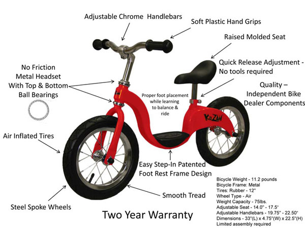 Kazam Balance Bike 2 - Toddler Bike - Best Balance Bike 2020