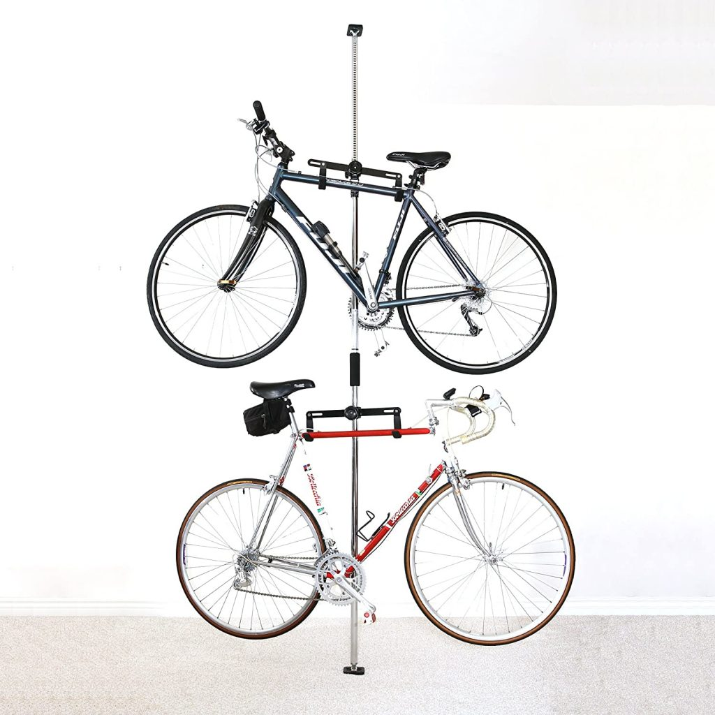 Sparehand Q-Rack II Freestanding Adjustable 2-Bike Storage Rack
