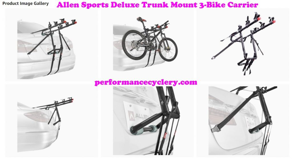 Allen Sports Deluxe Trunk Mount 3 Bike Carrier 8 1024x557 - Allen Sports Bike Rack Reviews in 2020 - What You Need To Know Before Buying a Bike Rack For Your Car