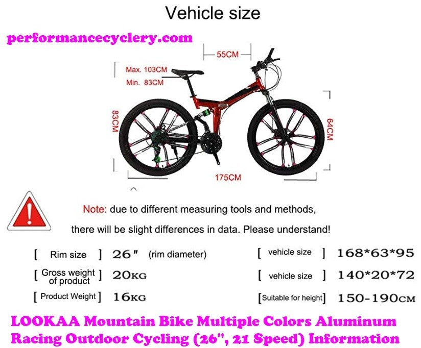 LOOKAA Mountain Bike Multiple Colors Aluminum Racing Outdoor Cycling 1 - Best Hybrid Bikes Under 300 in 2020 Reviews