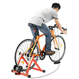 RAD Cycle Products Max Racer 7 Levels of with Smooth Magnetic Indoor Bicycle Trainer Stationary Bike Stand 5 - Best Stationary Bike Stand Reviews in 2020 - What You Need To Know Before Buying One
