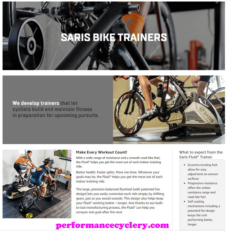 Saris CycleOps Fluid2 Indoor Bike Trainer 8 - Best Fluid Bike Trainers in 2020